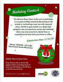 Green wreath contest cv