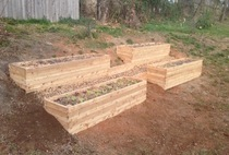 Raised garden beds on a slope cv
