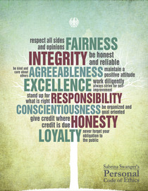 Personal code of ethics cv