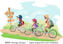 1092823 clipart family biking on trails royalty free vector illustration 1  cv