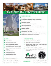 Healthcare real estate solutions flyer cv