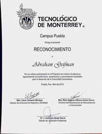 Diploma itesm puebla abril 2013 cv