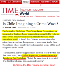 Time   is chile imagining... cv
