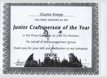 Jr. craftsman of the year strine printing cv