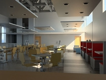 Perspective view 3 of dining and lounge cv