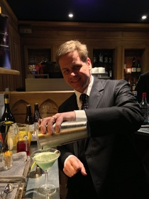 Thomas mixing a grasshopper cocktail cv