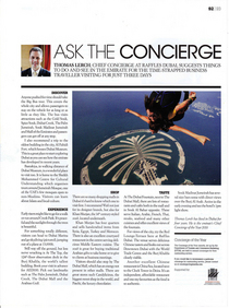 Article for concierge magazine cv