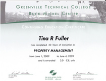 Property management certification new cv