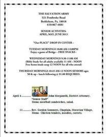 Senior s activities april june 2013 cv