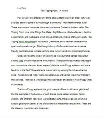 Tipping point review cv