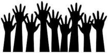 Raised hands clip art cv