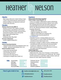 Nelson resume screen cv