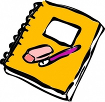Pencil eraser and journal clip art cv
