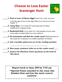 Easter egg hunt cv