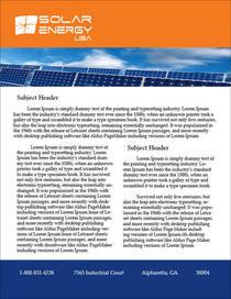Solarenergy datasheet cv