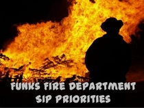 Funks fire department sip priorities cv