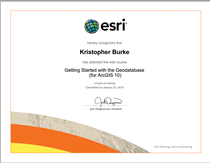 Getting started with the geodatabase esri certificate cv