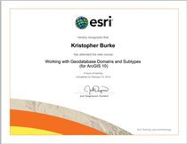 Working with geodatabase domains and subtypes esri certificate cv