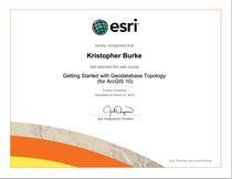 Getting started with geodatabase topology esri certificate cv