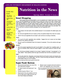 Nutrition newsletter april 2013 cv