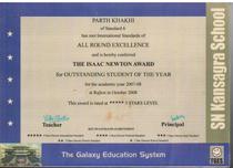 Std 6 award cv