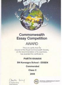 Commonwealth essay cv