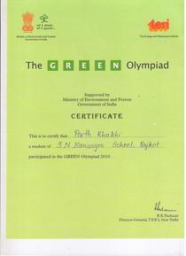 Green olympiad cv