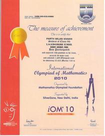 Math olympiad cv