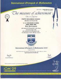 Math olypiad 2009 cv