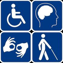 Disability symbols 300x300 cv