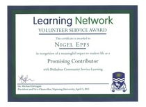 Learning network award cv