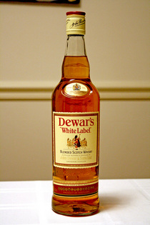 Bottle of dewar s whisky cv