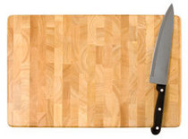 Cutting board wknife cv
