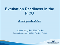 Extubation ppt slide 1 cv