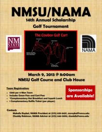 Nama golf sponsorship cv