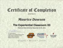 Osu certificate experiential classroom xii cv
