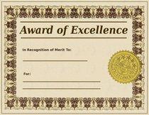 Award certificate w stamp cv