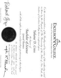 Bachelors degree cv