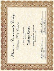 Nursing assistant ii program certificate of completion cv