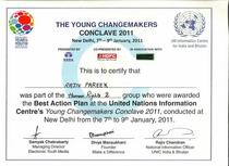 The young changemarkers certificate 001 cv