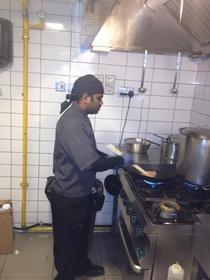 Sunil in kitchen cv