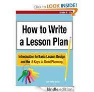 How to write a lesson plan lynn melby gordon cv