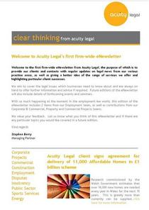Acuity legal newsletter february part of cv