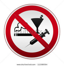 Stock photo circle silver metallic with red border plate for no smoking alcohol and drugs isolated on white 111596594 cv