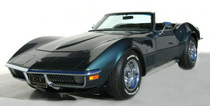 1970 gray convertible corvette cv