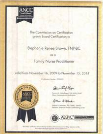 Certification of fnp cv