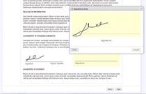 E signature cv
