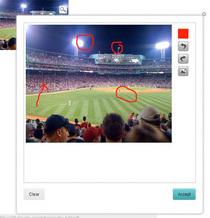 Image annotation widget cv