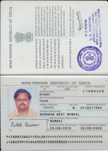 Passport  pb first page cv
