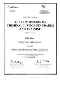 Fdle instructor certification march 2015 cv